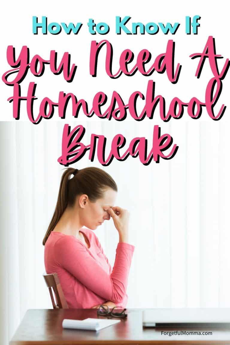 Taking A Homeschool Break and Getting Started Again