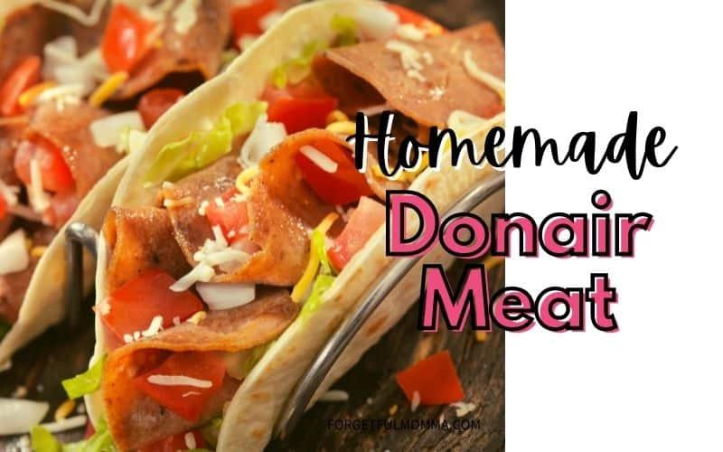 Homemade donair meat