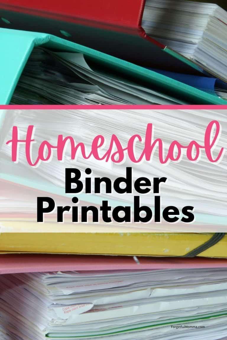 Homeschool Binder Printables