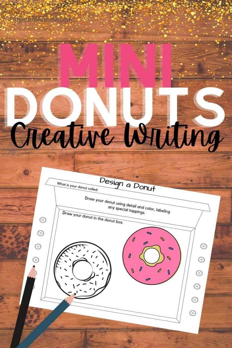 Donut Creative Writing with Art