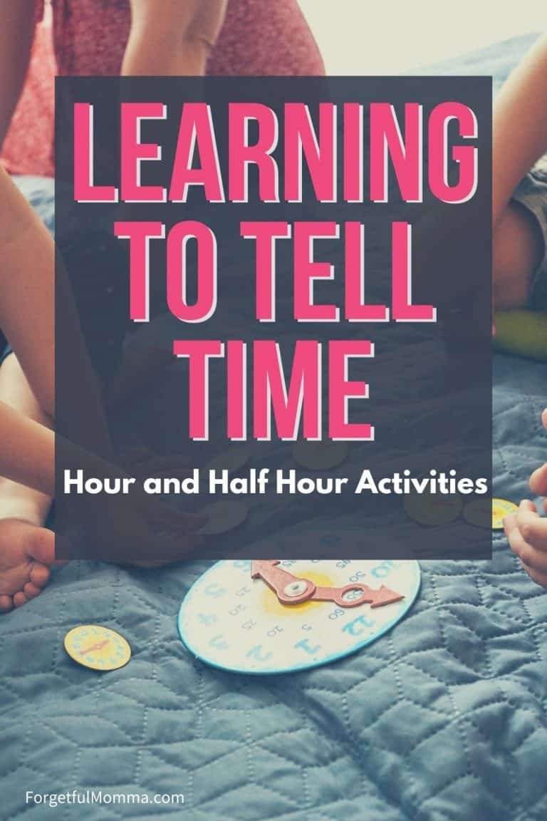 Learning to Tell Time – Hour and Half Hour Activities