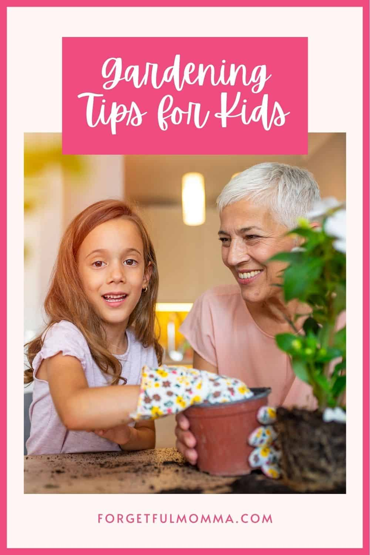 Gardening Tips for Kids - Child gardening with grandparent