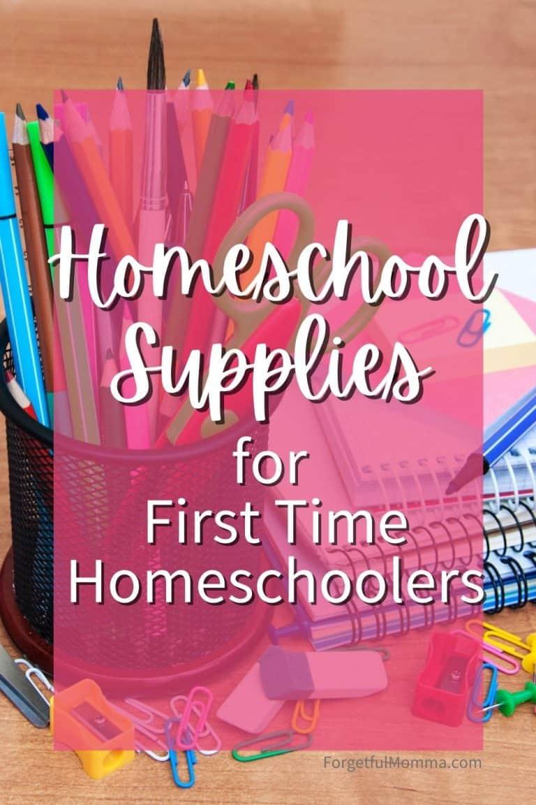 Homeschool Supplies for First-Time Homeschoolers