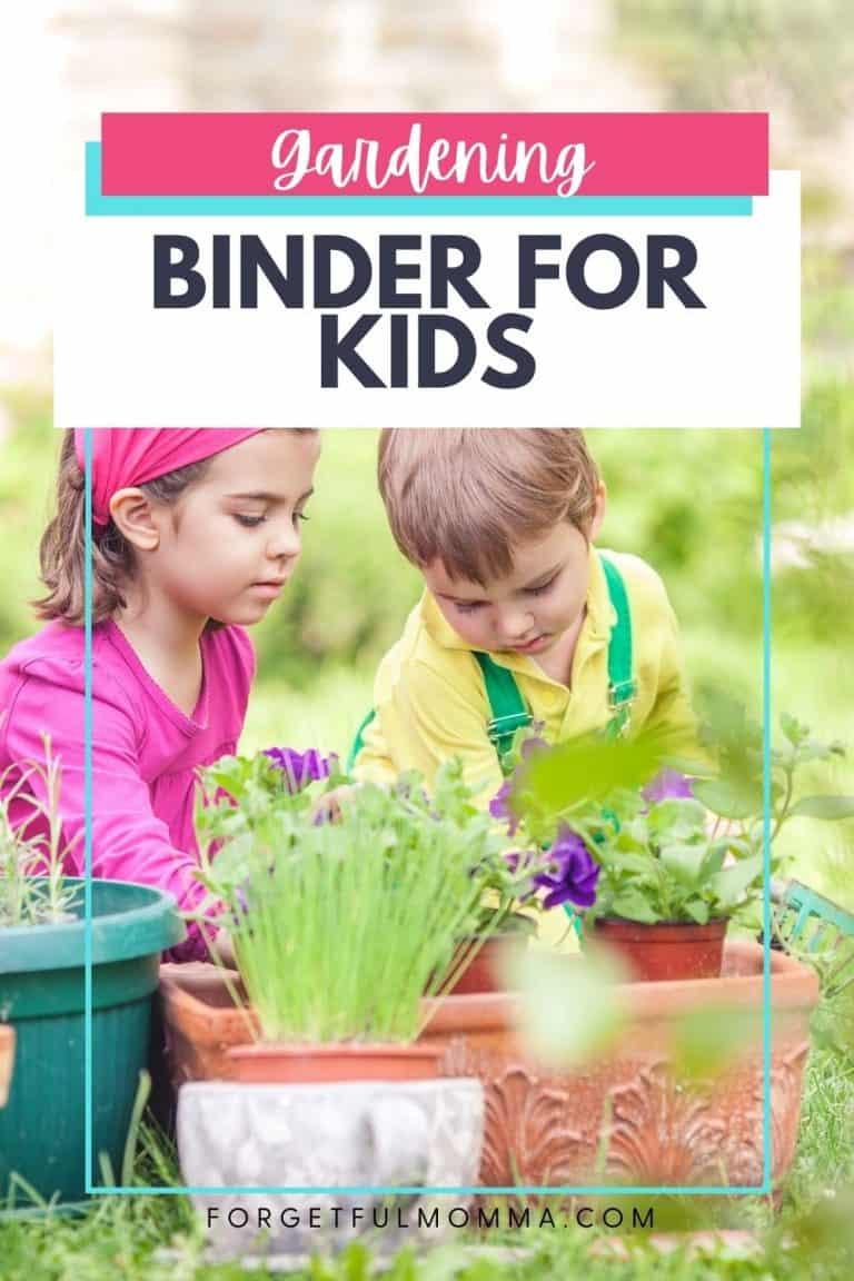 Gardening Made Easy Binder for Kids