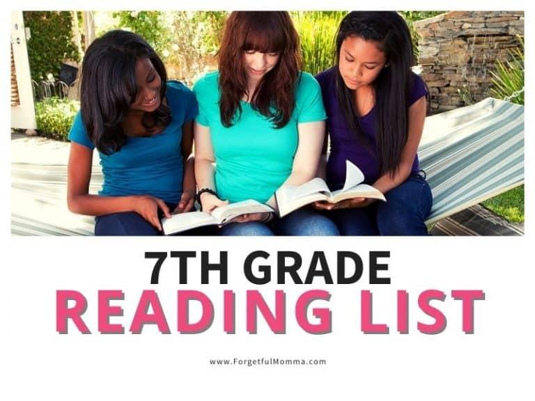7th Grade Reading List for Homeschool