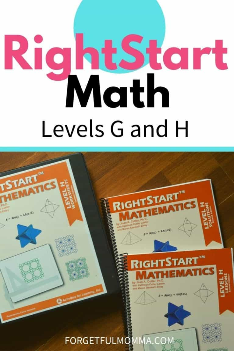RightStart Math Levels G and H Review