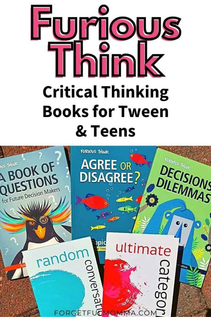 Furious Think books with text overlay