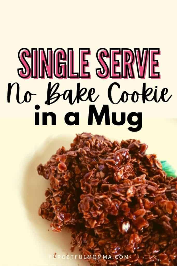 Single Serve No-Bake Cookie in a Mug