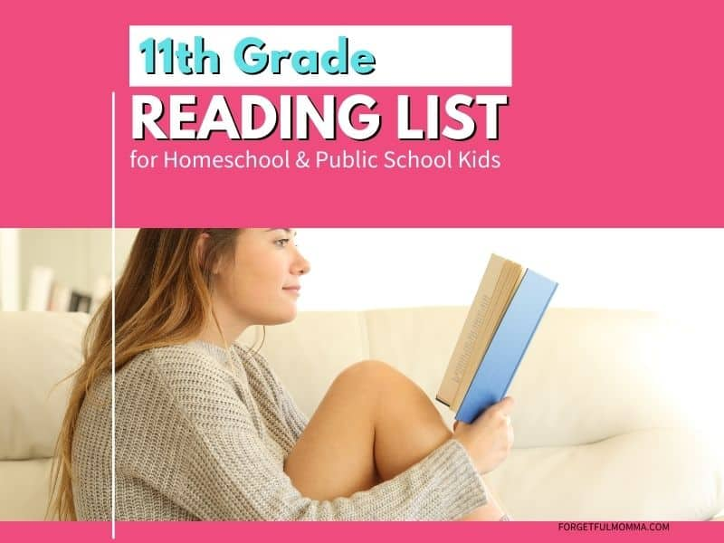 11th Grade Reading List for Homeschool