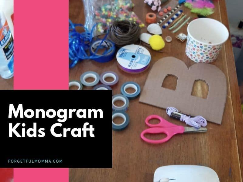 Monogram Kids Craft supplies