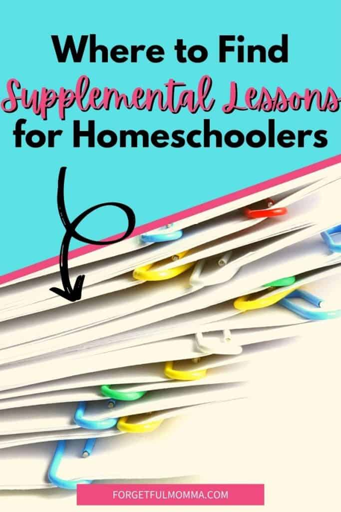 Where to Find Supplemental Lessons for Homeschoolers