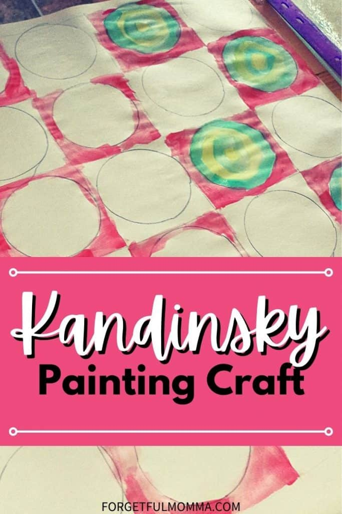 Kandinsky Painting Craft with text overlay