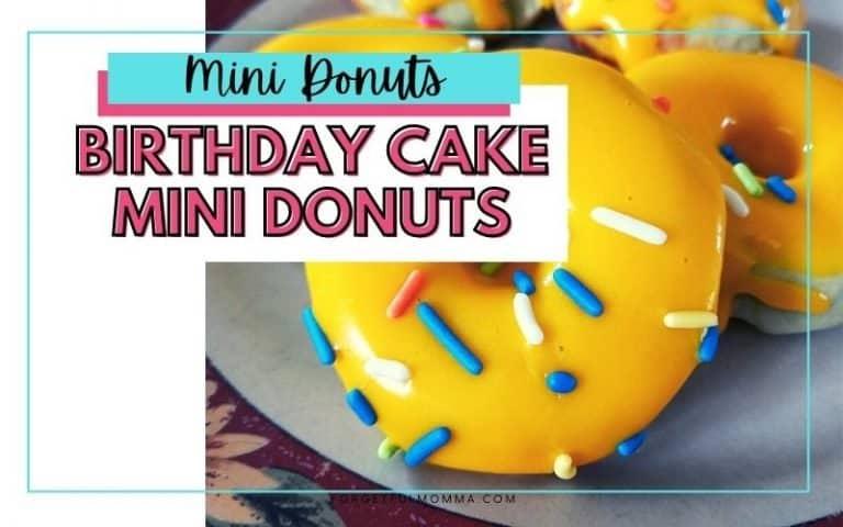 Birthday Cake Mini Donut Recipe
