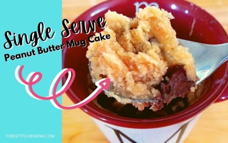 Peanut Butter Cake Mug Cake