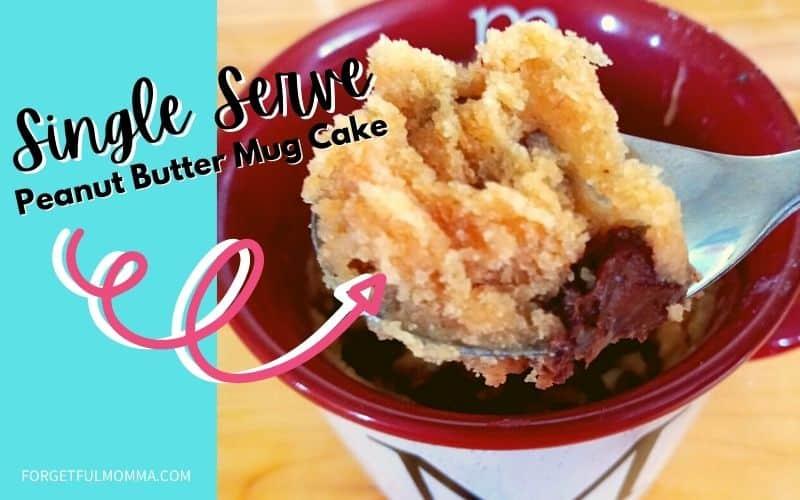 Peanut Butter Cake Mug Cake- finished product