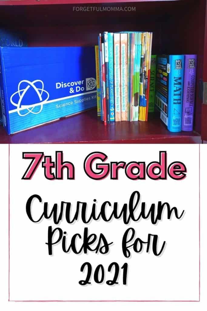 Grade 7 Curriculum Picks for 2021