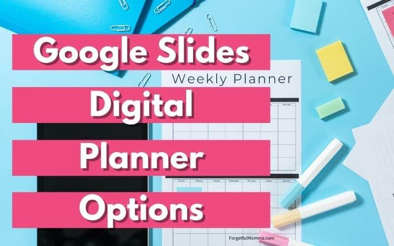 Google Slides Digital Planner Options