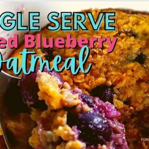 Single Serve Baked Blueberry Oatmeal