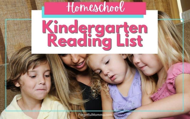 Kindergarten Reading List for Homeschool
