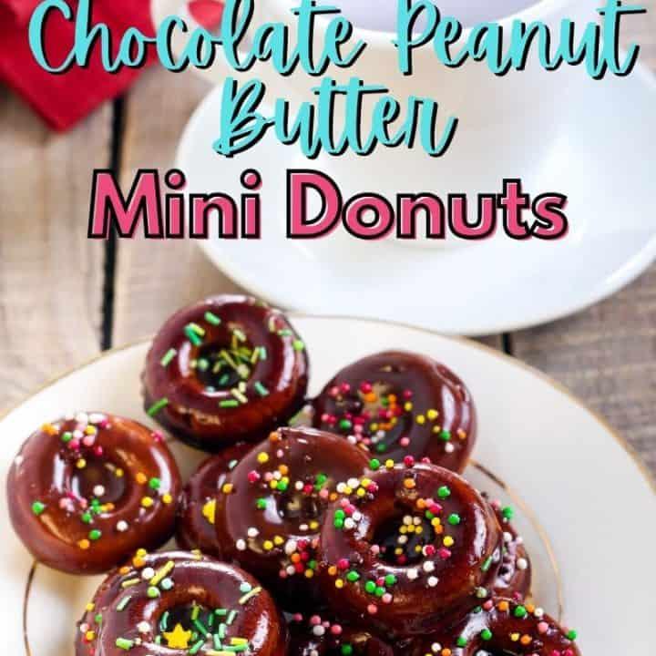 Chocolate Peanut Butter Mini Donuts