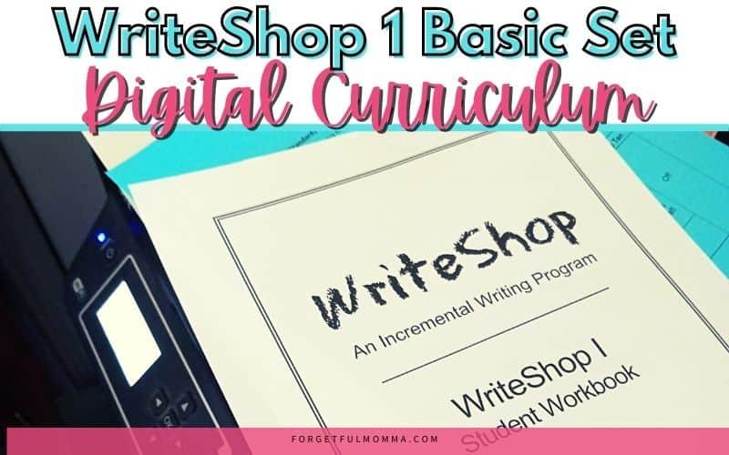 WriteShop 1 Basic Set Digital Curriculum Review