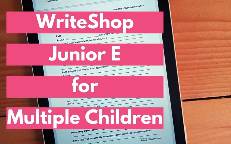 WriteShop Junior E for Multiple Children